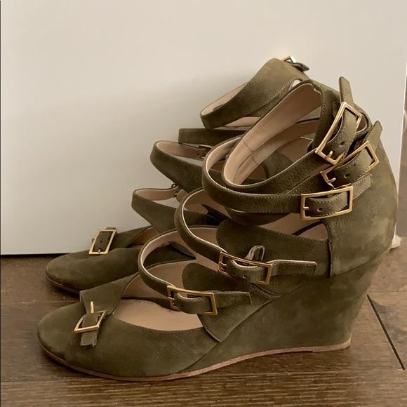 Chloe Shoes - Chloe green suede Zarina heels - size 40